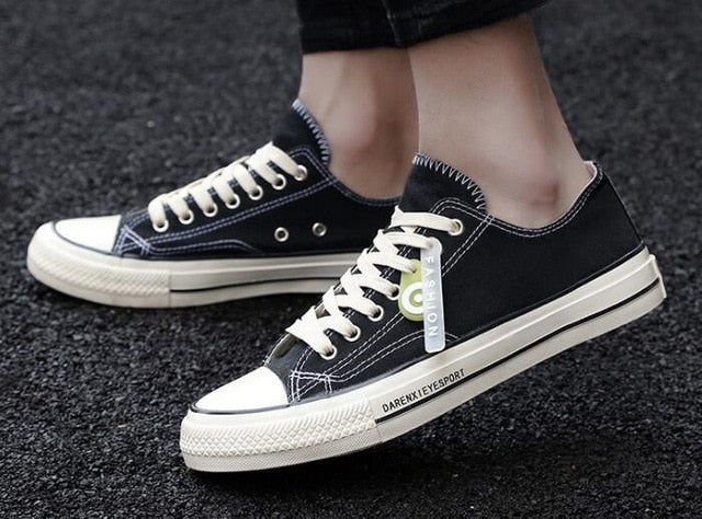 Men's Spring Autumn White Sneakers Lace-up Casual Shoes