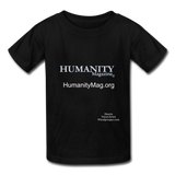 Humanity Magazine Kids' T-Shirt - black