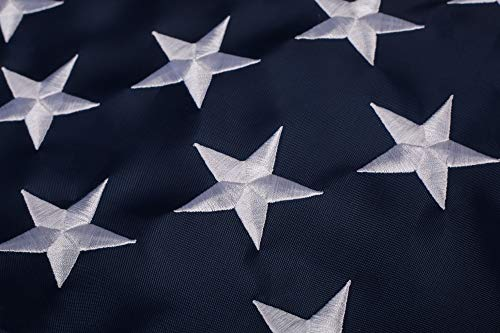 Great Outdoor American Flag: Longest Lasting US Flag Made from Nylon - Embroidered Stars - Sewn Stripes - UV Protection Perfect for Outdoors! USA Flag (3x5 ft)