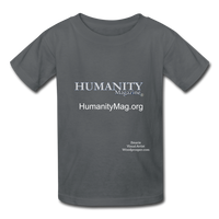 Humanity Magazine Kids' T-Shirt - charcoal