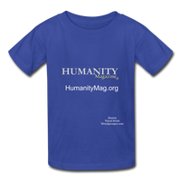 Humanity Magazine Kids' T-Shirt - royal blue