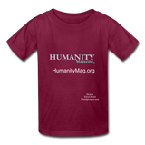 Humanity Magazine Kids' T-Shirt - burgundy