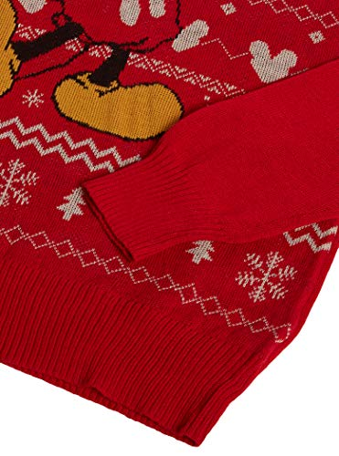 Disney Men's Ugly Christmas Sweater, Red, X-Large