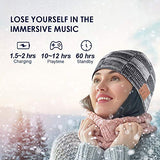 Bluetooth Beanie, V5.0 Bluetooth Hat, Wireless Earphone Beanie Headphones, with HD Stereo Speakers Built-in Microphone, Mens Gifts, Christmas Electronic Gifts for Men/Women