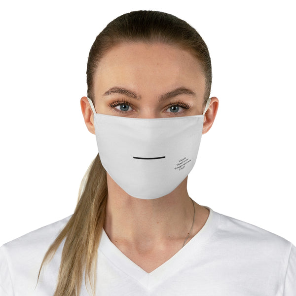 Emoji Mood Mask- Blank Smile Expression Face Mask