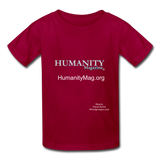 Humanity Magazine Kids' T-Shirt - dark red