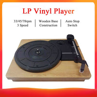 DC 5V Retro Player Stereo 33 45 78 RPM LP Three Speed Vinyl Record-Turntable Player Gramophone RCA R/L 3.5mm