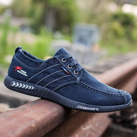 Men's Vulcanize Shoes High Quality Denim Canvas Breathable Men's Shoes Casual Outdoor Walking Men Shoes Sneakers Chaussure Homme