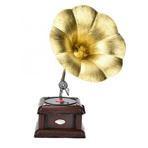Metal Retro Phonograph Model Vintage Record Player Miniature Home Office Club Decor Crafts Gift