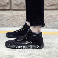 Mingpinstyle Men's Canvas Shoes Fashion Spring Air-Permeable Breathable Shoes Male Solid Comfortable Vulcanize Sneakers