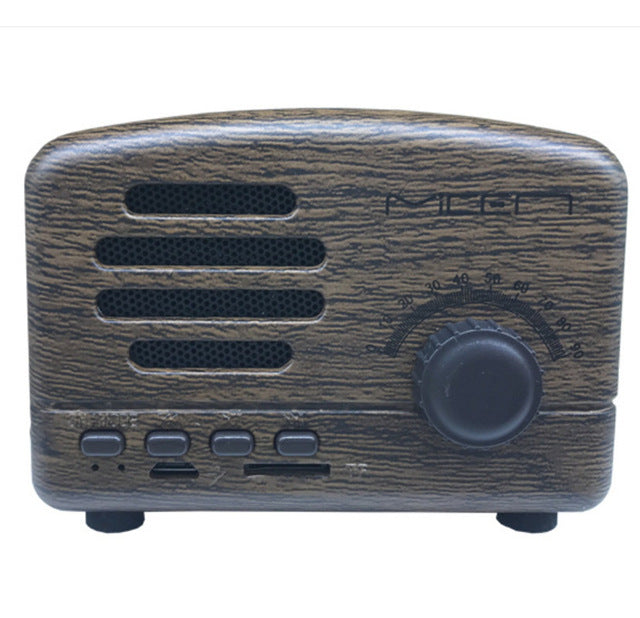 New Retro Bluetooth speaker radio card subwoofer mini antique small stereo portable speakers