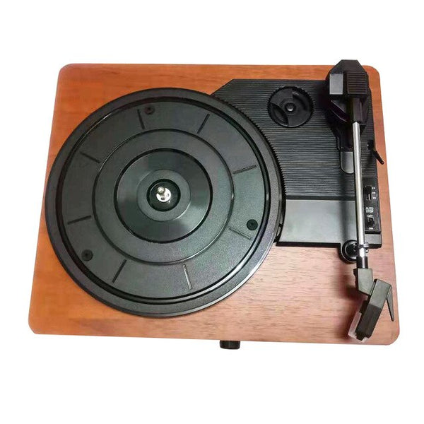 Portable Gramophone Vinyl Record Player Vintage Classic Turntable Phonograph Christmas Gift with Built-in Stereo Speakers