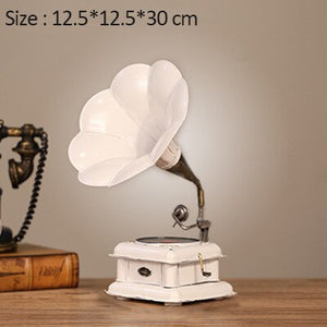 Retro Gramophone Model European Ornaments Gramophone Decoration Iron Record Player Model Crafts Home Ornaments Home Decorations