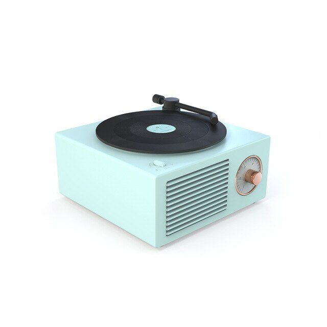 Retro record player wireless Bluetooth mini speaker mini home loud volume nostalgic mobile phone with subwoofer Decoration