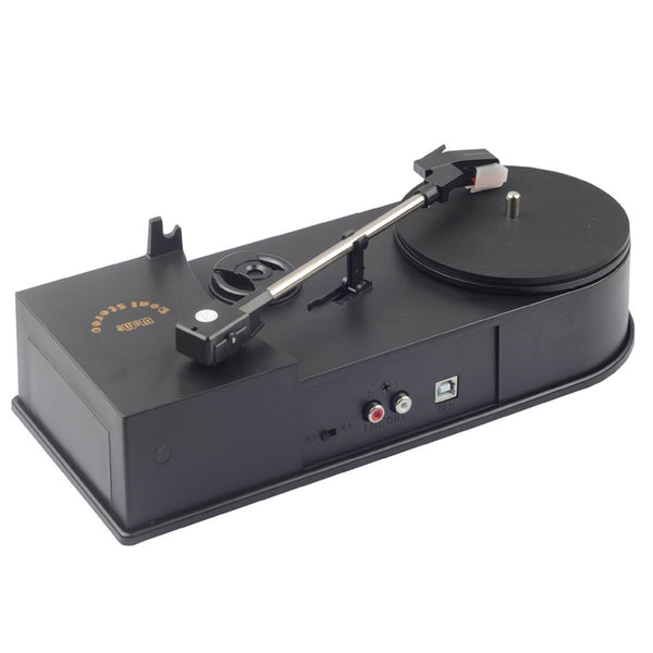 Vintage Phonograph Portable Turntables Vinyl Record Player Converter 45/33RPM LP Turntables to MP3 WAV Record Player, Plug&Play