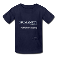 Humanity Magazine Kids' T-Shirt - navy