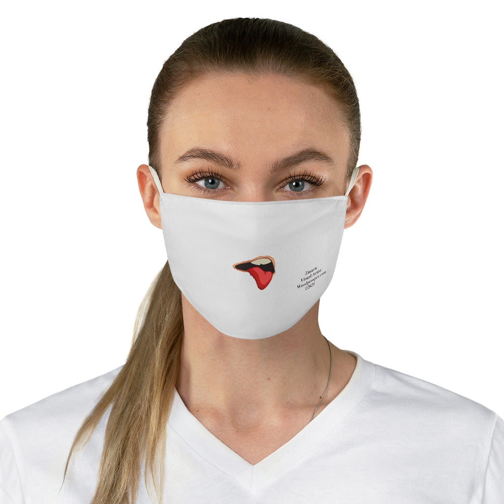 Emoji Mood Mask- Disgusted Facial Expression Fabric Face Mask