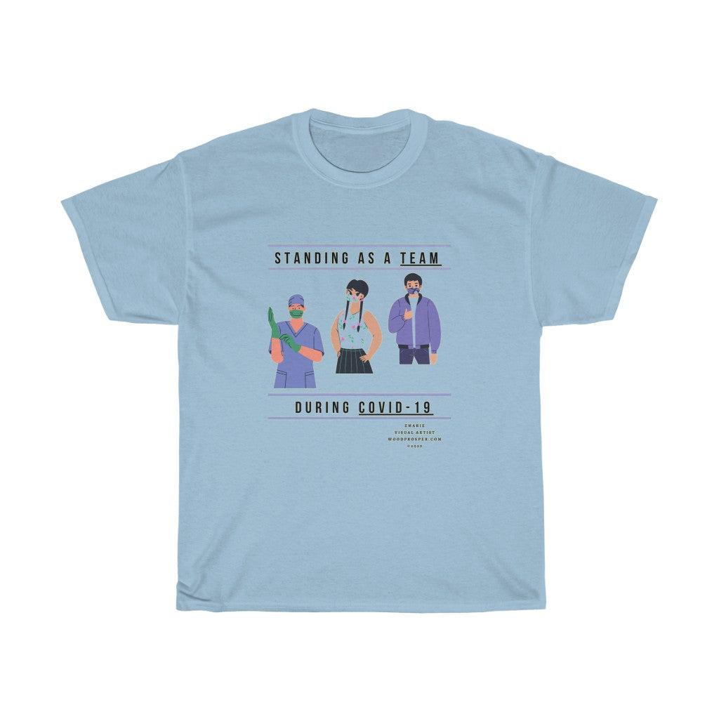 Standing As A Team Unisex Heavy Cotton Tee
