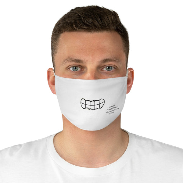 Emoji Mood Mask- Grinning Facial Expression Fabric Mask