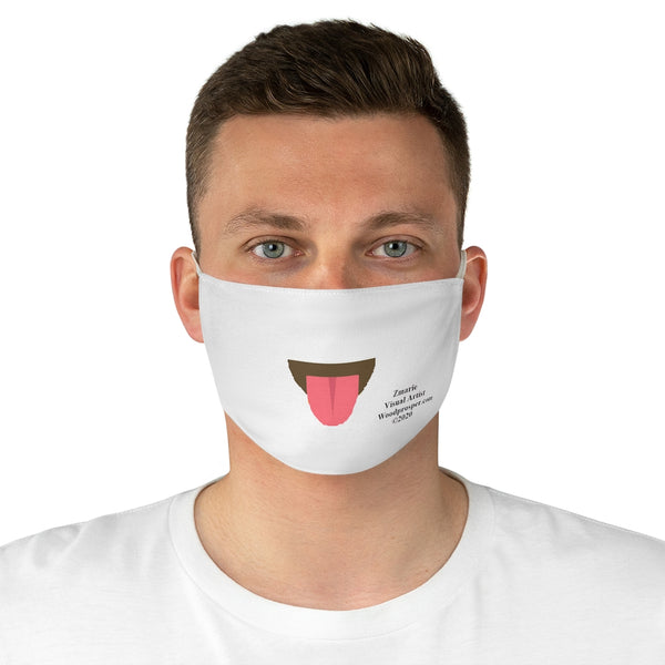 Emoji Mood Mask- Tongue Out Expression Fabric Face Mask