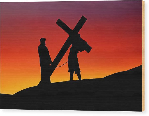 Christ Cross - Wood Print