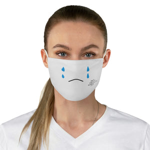 Emoji Mood Mask- Crying Fabric Face Mask