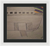 Interpretation of Noah's Ark Adam To Noah Drawing Part II - Framed Print
