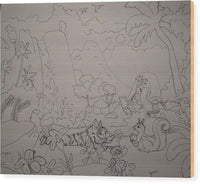 Interpretation of The Garden of Eden - Wood Print