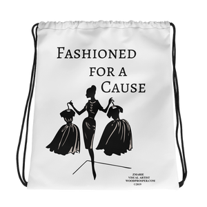 Fashioned For A Cause Drawstring bag