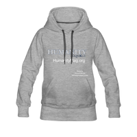 Humanity Women's Premium Hoodie - heather gray