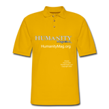 Humanity Project Men's Pique Polo Shirt - Yellow