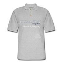 Humanity Project Men's Pique Polo Shirt - heather gray