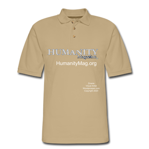 Humanity Project Men's Pique Polo Shirt - beige