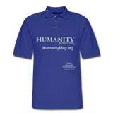 Humanity Project Men's Pique Polo Shirt - royal blue