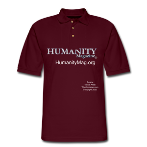 Humanity Project Men's Pique Polo Shirt - burgundy