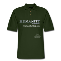 Humanity Project Men's Pique Polo Shirt - forest green
