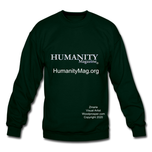 Unisex Humanity Project Crewneck Sweatshirt - forest green