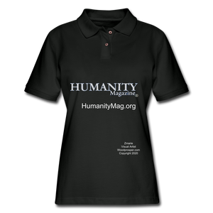 Humanity Project Women's Pique Polo Shirt - black