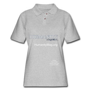 Humanity Project Women's Pique Polo Shirt - heather gray