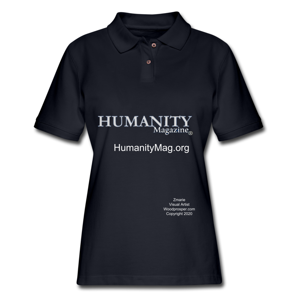 Humanity Project Women's Pique Polo Shirt - midnight navy