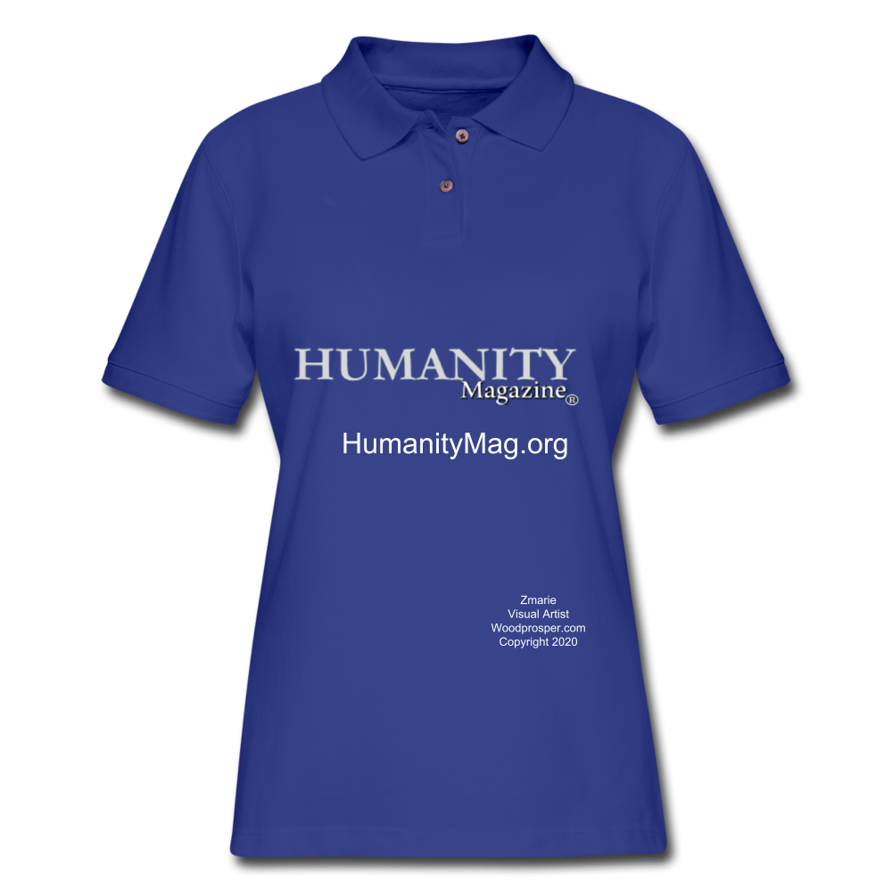 Humanity Project Women's Pique Polo Shirt - royal blue