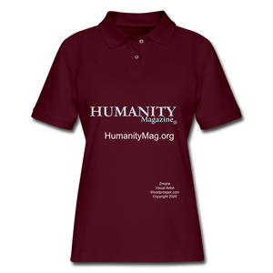 Humanity Project Women's Pique Polo Shirt - burgundy