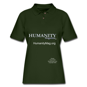 Humanity Project Women's Pique Polo Shirt - forest green