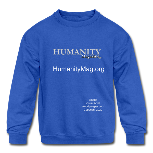 Humanity Project Kids' Crewneck Sweatshirt - royal blue