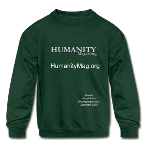 Humanity Project Kids' Crewneck Sweatshirt - forest green