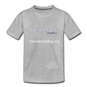 Unisex Humanity Project Kids' Premium T-Shirt - heather gray