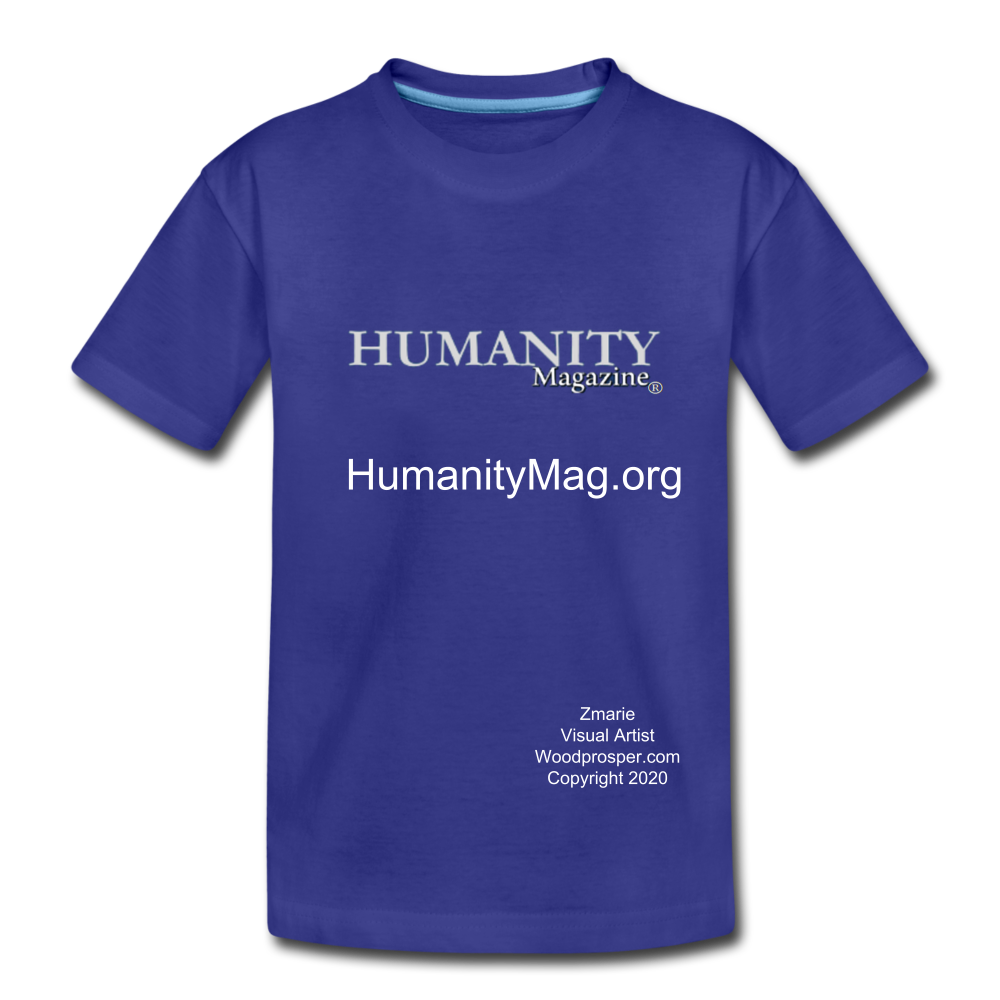 Unisex Humanity Project Kids' Premium T-Shirt - royal blue