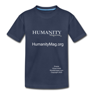 Unisex Humanity Project Kids' Premium T-Shirt - navy