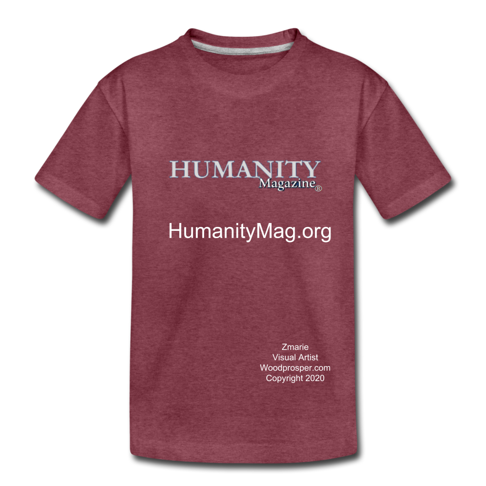 Unisex Humanity Project Kids' Premium T-Shirt - heather burgundy