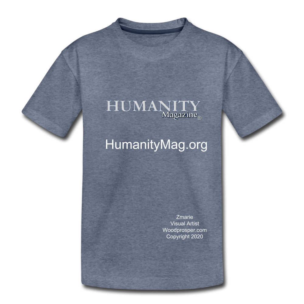 Unisex Humanity Project Kids' Premium T-Shirt - heather blue